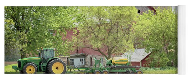 Yoga Mat featuring the photograph Deere On The Farm by Susan Rissi Tregoning