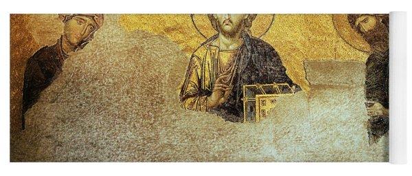 Deesis Mosaic Hagia Sophia-christ Pantocrator-judgement Day Yoga Mat