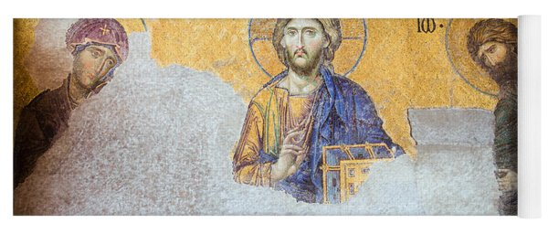 Deesis Mosaic Of Jesus Christ Yoga Mat