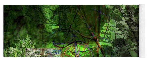 Yoga Mat featuring the digital art Delaware Green by Richard Ricci
