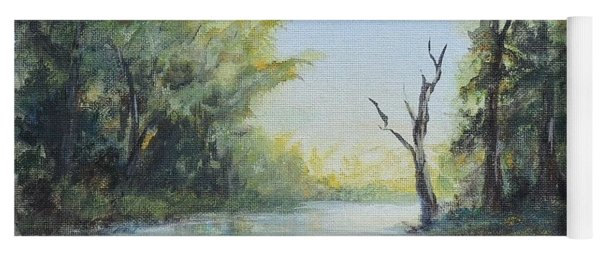 Yoga Mat featuring the painting Delaware River  by Katalin Luczay