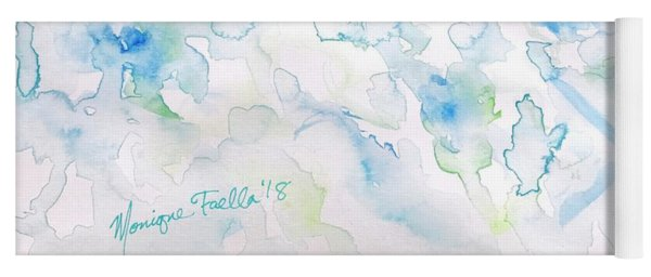 Yoga Mat featuring the painting Delicate Elegance by Monique Faella