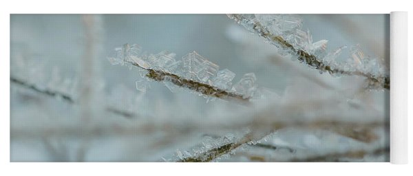 Delicate Morning Frost  Yoga Mat