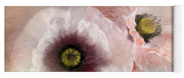 Delicate Pastel Poppies Yoga Mat