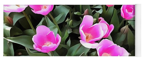 Delicate Pink Tulips Of Istanbul  Yoga Mat