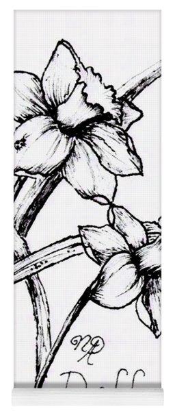 Delightful Daffodils Yoga Mat