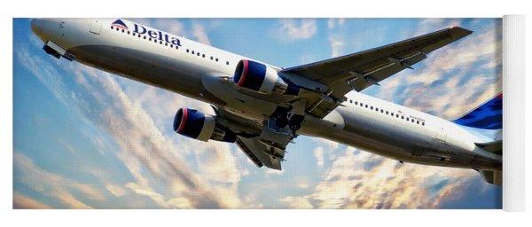 Delta Passenger Plane Yoga Mat