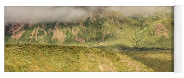 Denali National Park Mountain Under Clouds Yoga Mat