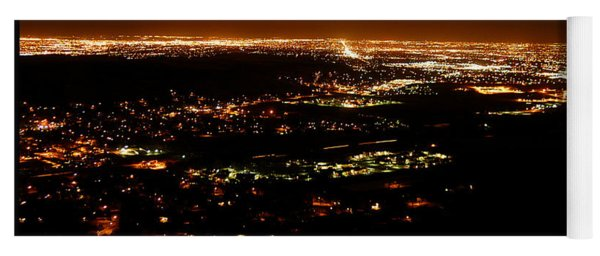 Denver Area At Night From Lookout Mountain Yoga Mat