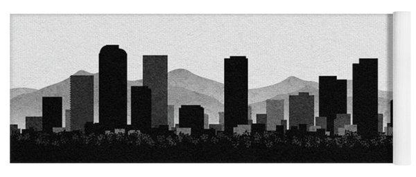 Denver Cityscape Art Yoga Mat