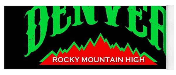 Denver Colorado Rocky Mountain Design Yoga Mat