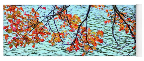 Yoga Mat featuring the photograph der Oktober by Expressive Landscapes Fine Art Photography by Thom