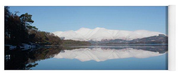 Derwentwater Winter Reflection Yoga Mat