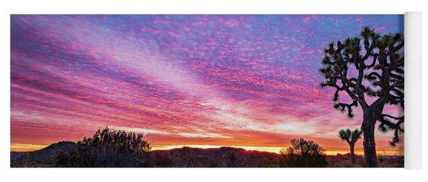 Desert Sunrise At Joshua Tree Yoga Mat