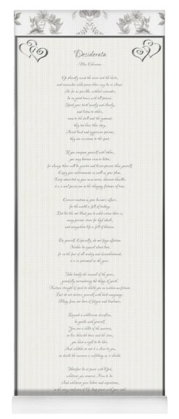 Desiderata In Silver Script By Max Ehrmann Yoga Mat