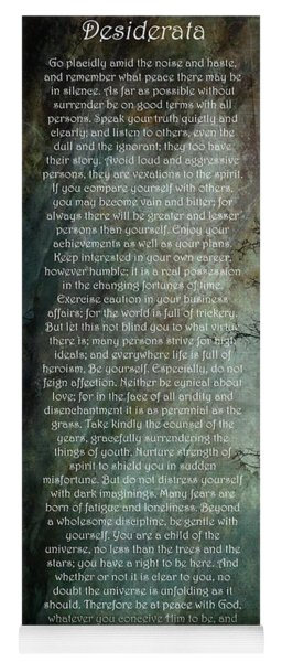 Desiderata Of Happiness - Vintage Art By Jordan Blackstone Yoga Mat
