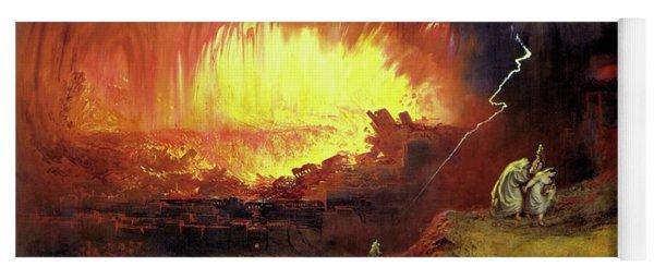 Destruction Of Sodom And Gomorah Yoga Mat