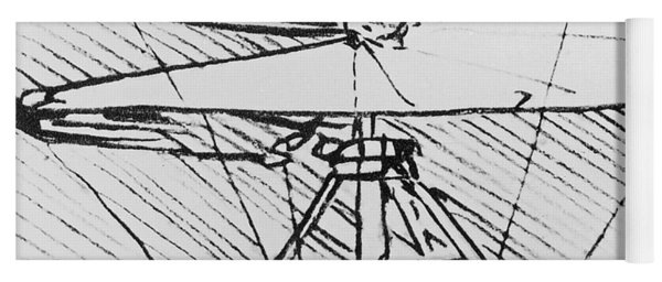 Detail Of A Design For A Flying Machine Yoga Mat