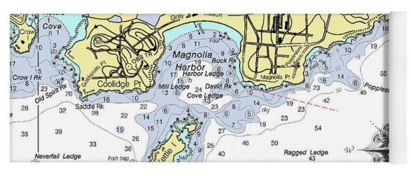 Detail Of Magnolia Harbor Yoga Mat