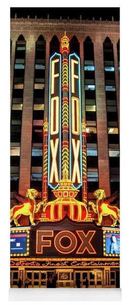 Detroit Fox Theatre Marquee Yoga Mat