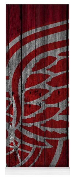 Detroit Red Wings Wood Fence Yoga Mat