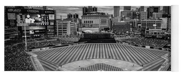 Detroit Tigers Comerica Park Bw 4837 Yoga Mat