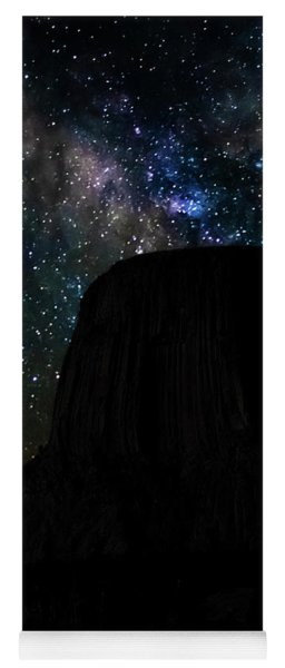 Devils Tower And Milky Way Yoga Mat