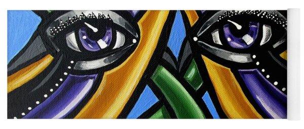 Colorful Eye Art Paintings Abstract Eye Painting Chromatic Artwork Yoga Mat