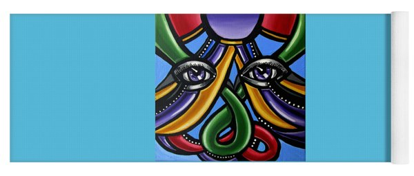 Abstract Eye Painting - Devotion Yoga Mat