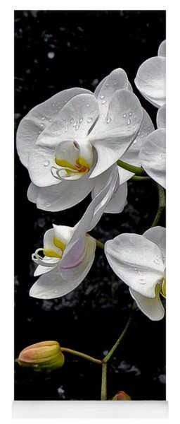 Dew-kissed Cascading Orchids Yoga Mat