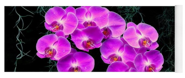 Dew-kissed Orchids Yoga Mat