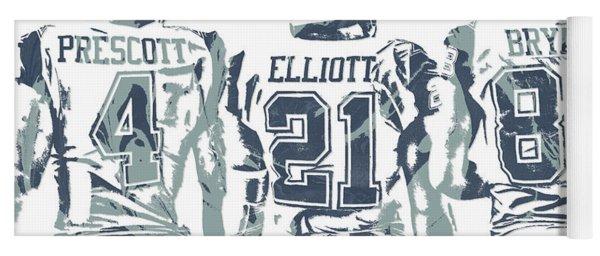 9f60517421dd04 Dez Bryant Ezekiel Elliott Dak Prescott Dallas Cowboys Pixel Art Yoga Mat