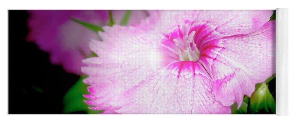 Dianthus Flower Yoga Mat