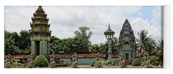 Digital Cambodia Architecture  Yoga Mat