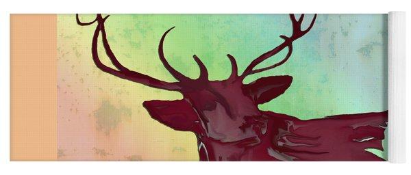Digital Elk #1 Yoga Mat