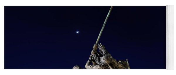 Digital Liquid - Iwo Jima Memorial At Dusk Yoga Mat