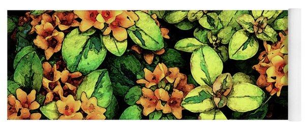 Digital Painting Quilted Garden Flowers 2563 Dp_2 Yoga Mat