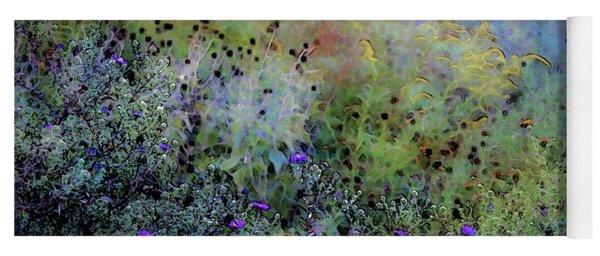 Digital Watercolor Field Of Wildflowers 4064 W_2 Yoga Mat
