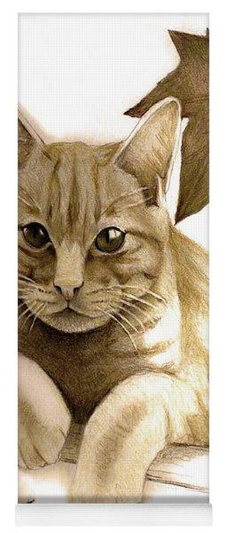 Digitally Enhanced Cat Image Yoga Mat