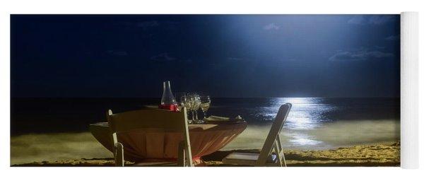 Dinner For Two In The Moonlight Yoga Mat