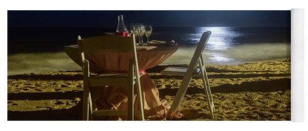 Yoga Mat featuring the photograph Dinner For Two In The Moonlight by Nicole Lloyd
