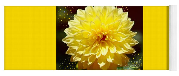 Dinner Plate Dahlia In Starry Sky Yoga Mat