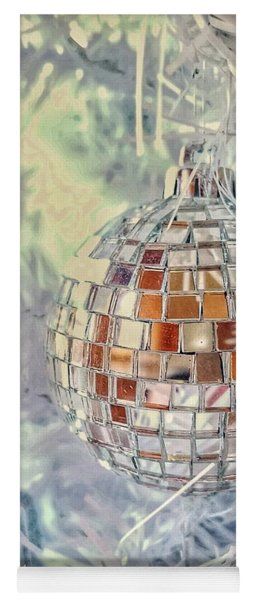 Disco Ball Tree Ornament Yoga Mat