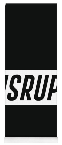 Disrupt - Minimalist Print - Typography - Quote Poster Yoga Mat
