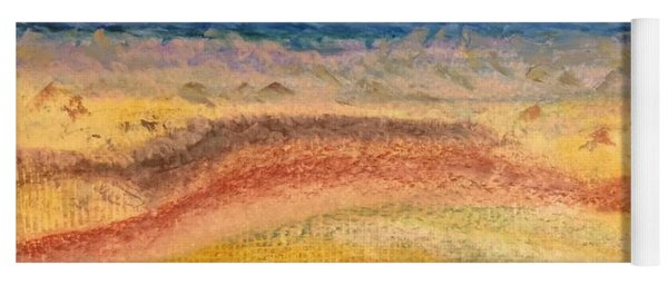 Yoga Mat featuring the painting Distance by Norma Duch