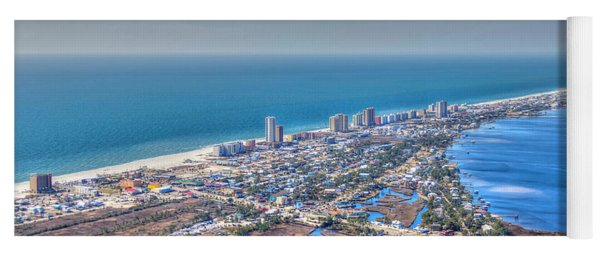 Distant Aerial View Of Gulf Shores Yoga Mat