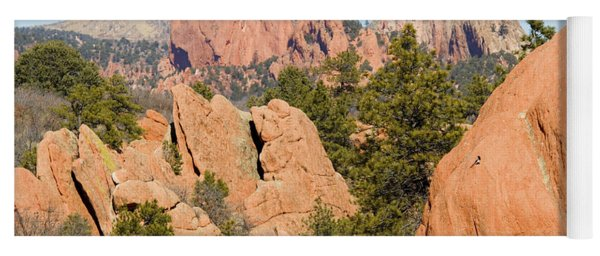 Distant Garden Of The Gods From Red Rock Canyon Yoga Mat