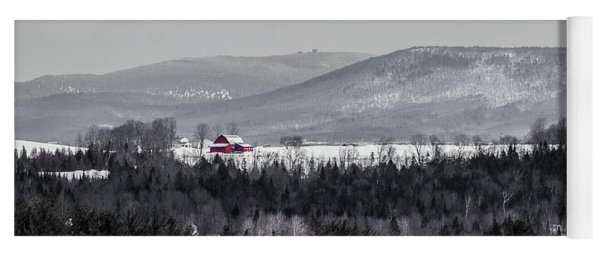 Distant Red Barn Yoga Mat