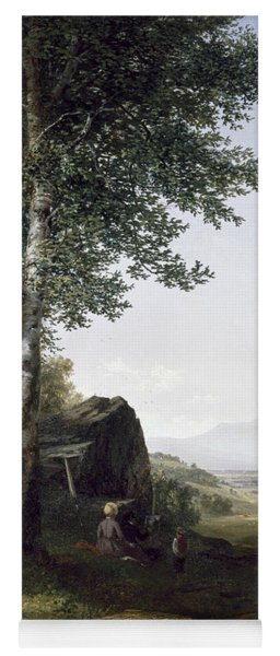 Distant View Of The Mansfield Mountain Vermont Yoga Mat