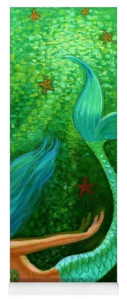 Diving Mermaid Fantasy Art Yoga Mat